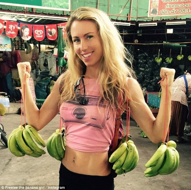 Leanne Ratcliffe, (pictured) who goes by the fruity moniker online, is known for her passionate yet often eyebrow-raising stance on veganism and clean eating
