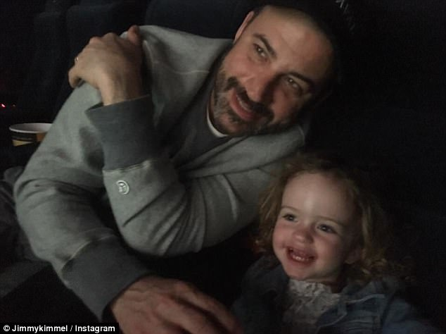 Doting dad: In addition to Billy, Jimmy is also  dad to a three-year-old daughter, Jane, with his wife of four years, screenwriter Molly McNearney