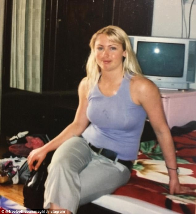 At an age where I should have been my happiest and healthiest I was constantly depressed, lethargic, had CFS and irritable bowel syndrome, brittle nails, constant thrush, cystic acne and low thyroid function to name a few,' Leanne (pictured before veganism) said