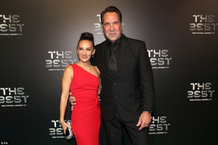 Former Arsenal and England goalkeeper David Seaman and his wife Frankie Poultney were all smiles on Monday