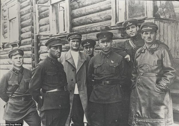 The chiefs of gulags, pictured above in 1932, were responsible for the forcing hundreds of thousands of prisoners into slave labor across the USSR. Gulag was the acronym for the Main Administration of Corrective Labour camp