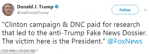 Trump called himself a 'victim' of the infamous dossier that Democrats helped pay to produce