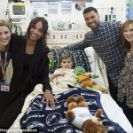 Ciara & Husband,Russell Wilson Visit Seattle Children's Hospital