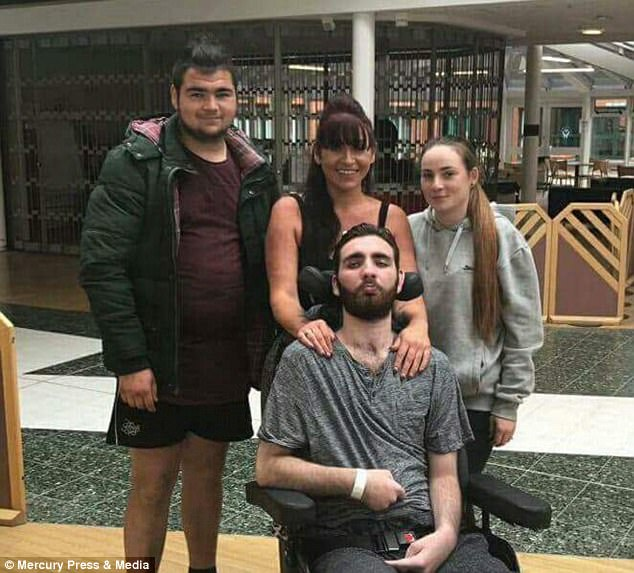 But his mother Helen was immediately worried when she heard the front door open and close at 9.30pm on March 4 and minutes later Jack texted saying, 'I have just popped out. Don't worry xxx'. Jordan Arthur, Ms Barnes, Lucy and Jack are all pictured together