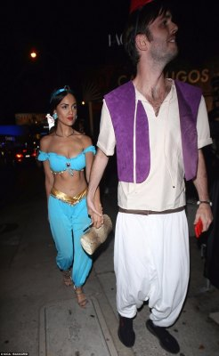 Whole new world: Eiza Gonzalez and her partner made a pretty convincing Jasmine and Aladin