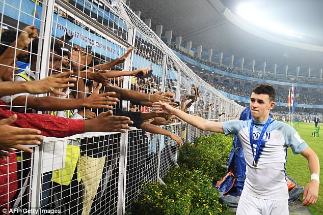 Foden was named as the player of the tournament at the Under 17 World Cup