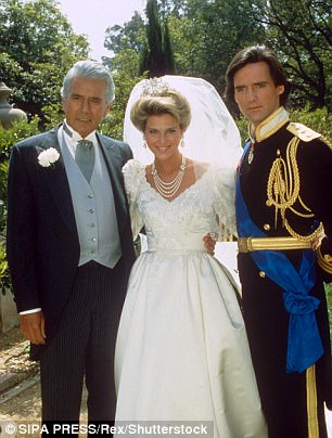 In 1992, a year after India's birth, Shaffer pleaded guilty to smuggling drugs into the US. Catherine is seen here in Dynasty in 1985