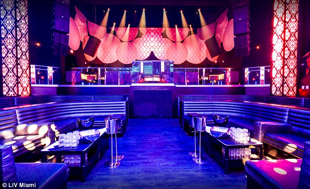 The nightclub has a fully-equipped DJ booth, four full service bars and a private VIP entrance