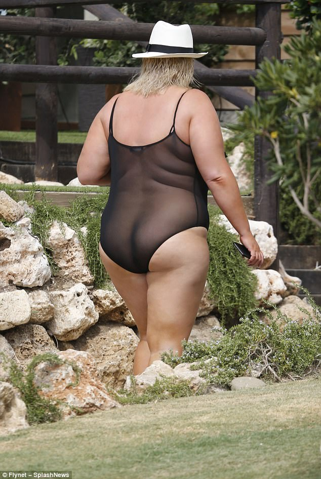 Confidence is key:Known for her bold sense of style, Gemma was quick to defend the look, stating defiantly: 'Why shouldn't a plus size girl wear mesh - who said they couldn't?'