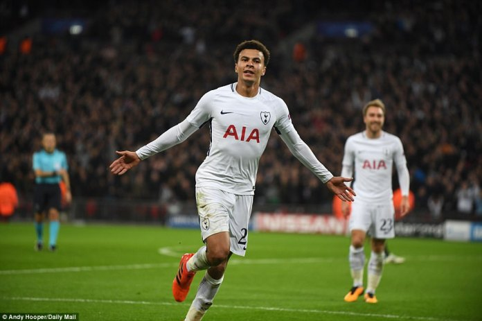 Dele Alli's second goal of the game after half-time looked to be crucial as the home fans went bezerk at Wembley Stadium