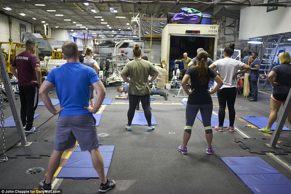 In addition to the gym facilities, sailors also have the opportunity to take Zumba and spin classes, weight-lifting and functional fitness classes and even rowing club