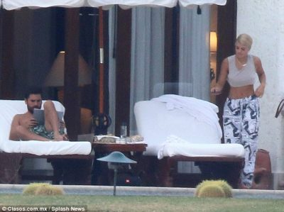 The father of three, 34, and the 19-year-old daughter of Lionel Richie were seen relaxing on loungers together during their holiday