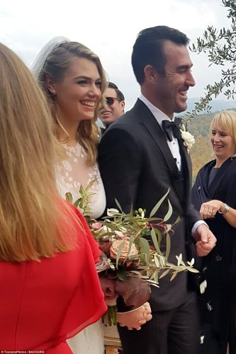 They said I do:The 25-year-old model got married to the baseball star in a romantic ceremony