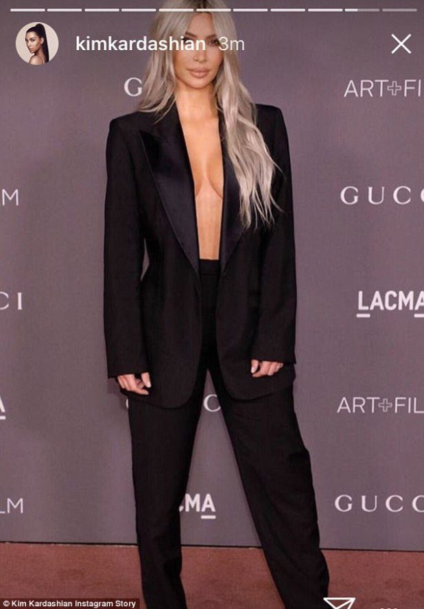 Documentation: Kim also shared a picture of her ensemble on Instagram stories