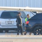 Pregnant Kylie Jenner Spotted Boarding a Private Jet