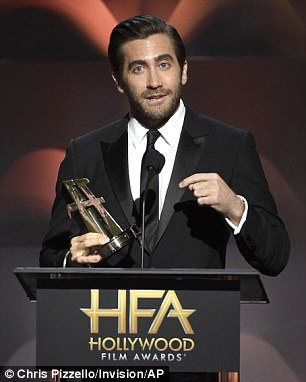 Winners: Other awards were presented to Jake Gyllenhaal and to Dustin Hoffman