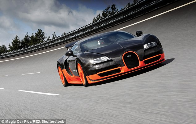 The previous record was held by French car maker Bugatti which set a benchmark of 267.8mph back in 2010 with a Veyron Super Sport (pictured)