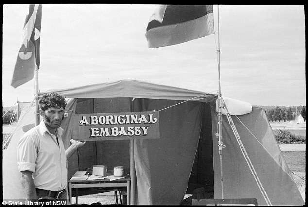 A fire has been continuously burning in the Aboriginal Tent Embassy in Canberra for 45 years