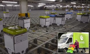 Ocado slashes packing time with help of 1000 robot workers | Daily ...