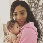 Serena Williams And Baby Alexis In Cute Photo