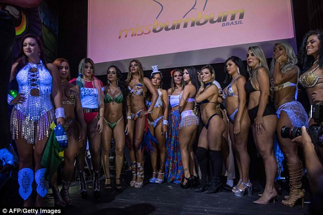 The finalists showed off their curves in an array of skimpy ensembles as they competed for this year's crown
