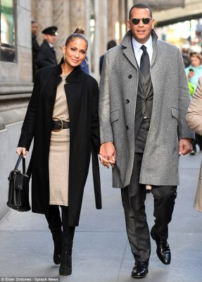 Forget the sweats and sneakers! Jennifer Lopez and Alex Rodriguez were all dressed up for a breakfast date in New York City on Tuesday morning
