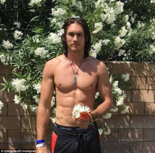 Tyler Green is the hunk who cosied up to Paris Jackson ...