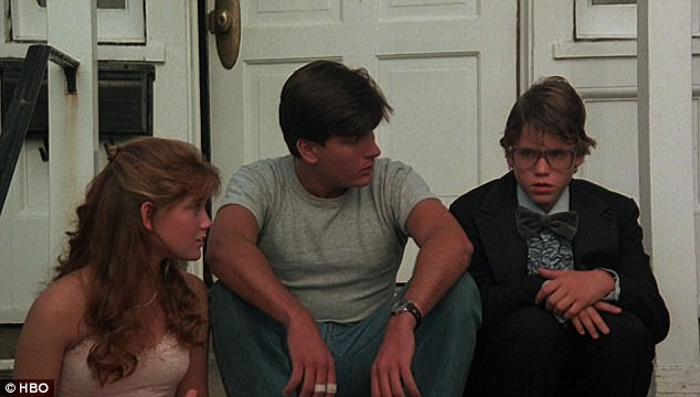 Left to right: Kerri Green, Charlie Sheen and Corey Haim from the 1986 film 'Lucas'