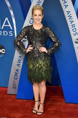 Not ruffling any feathers!Kellie Pickler, 31, who shot to stardom after competing on American Idol more than a decade ago, looked extremely glamorous in her head-turning feathered dress from Pamella Roland, which was styled byDimpy Sethi