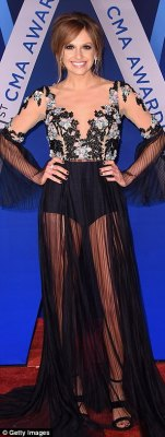 The wow factor!Meghan Linsey, Cam, andCarly Pearce stopped people in their tracks in their sexy black looks