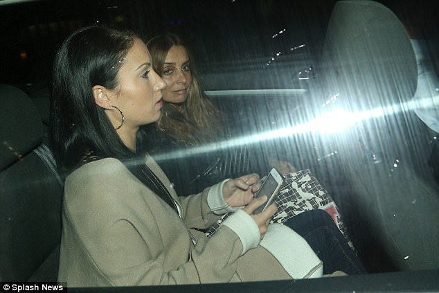 Spotted: Louise Redknapp appeared a little strained during a rare outing in London, leaving the Lowry Theatre following a performance of Cabaret on Thursday night
