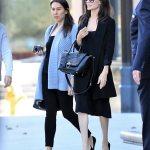Angelina Jolie Sports Sophisticated Look In LA
