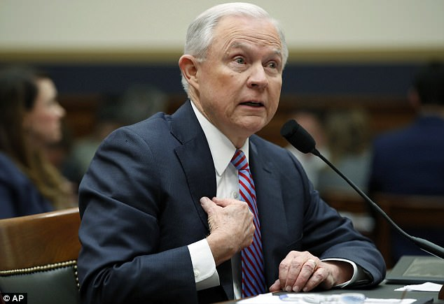 'I don't think it's right to accuse me of doing something wrong,' said Sessions, after several Democrats pressed him on his changing account of Trump campaign officials who had Russia contacts