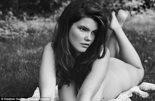 Hometown glory:The 5ft 11in stunner, who is signed with Milk Management, did the sizzling shoot - billed as a 'low-key striptease' - on a country estate in her hometown of New York