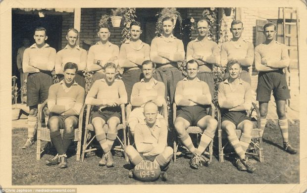 Picturedare some of the soldiers from the battle in a rugby line-up. Famously, Sir Winston Churchill said: 'Before Alamein we never had a victory. After Alamein we never had a defeat.'