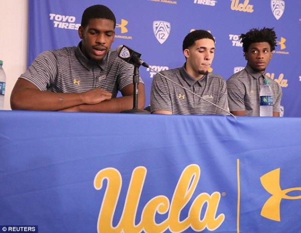 UCLA players accused of shoplifting thank Trump on return ...