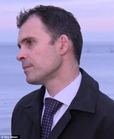 Detective Superintendent Paul Kessell, of Dorset police, pictured on Thursday, said officers had no reason to believe Gaia left Swanage