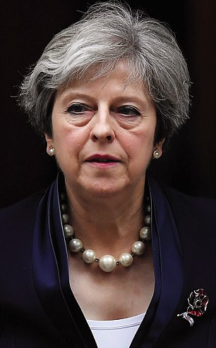 Some images found on the system were said to be so vile that police took advice from the CPS on whether to prosecute. Pictured, the Prime Minster Theresa May