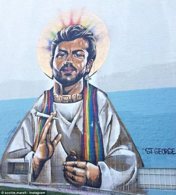 Christian man, 23, who defaced George Michael mural ...