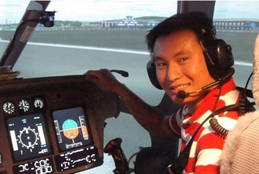 Nguyen Thanh Trung, 32, was in a helicopter with Captain Mike Green when they were involved in a collision with a Cessna 152 at 1,000ft over Waddesdon Manor in Buckinghamshire