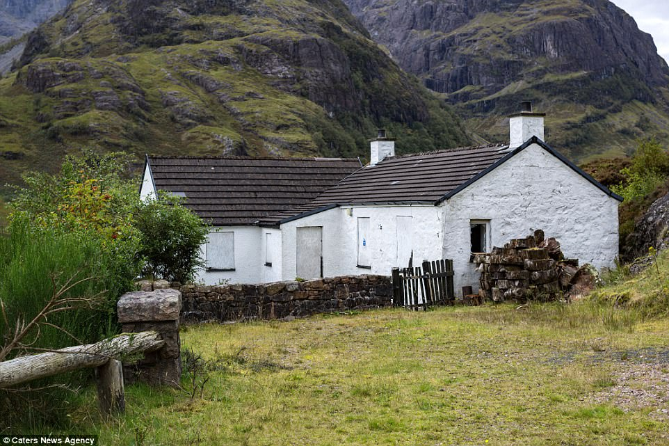 The once idyllic home in Glencoe in the Scottish Highlands was raided by police following Jimmy Savile's death in 2011