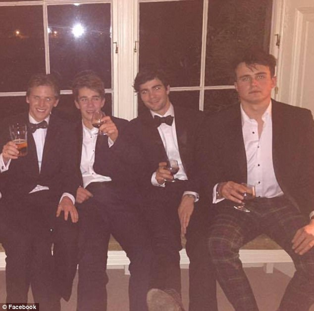 Farquharson (far right) was selected Head of School at Rugby School for the school year 2015-2016. The position usually goes to the most outstanding student both academically and socially