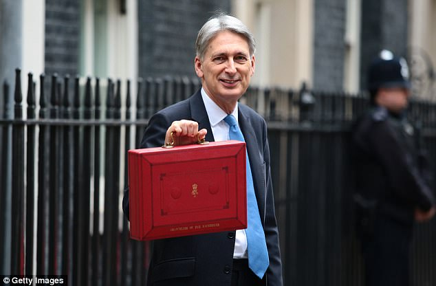 Mr Hammond also unveiled an extra £28million of support for the survivors of the fire, which tore through flats after they were fitted with cheap cladding