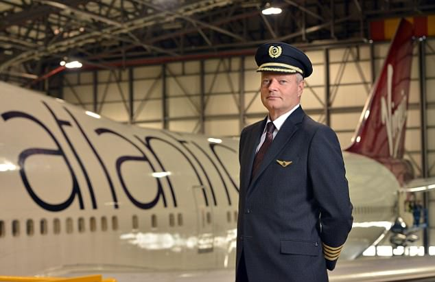 Captain Dave Kistruck (pictured), vice president of Airline Operations at Virgin Atlantic, said that flying faster only saves a matter of minutes on a flight of several hours