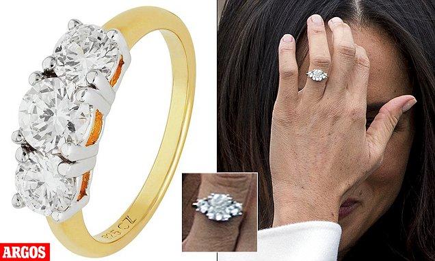Meghan Markles Engagement Ring Looks Like Argos Sparkler