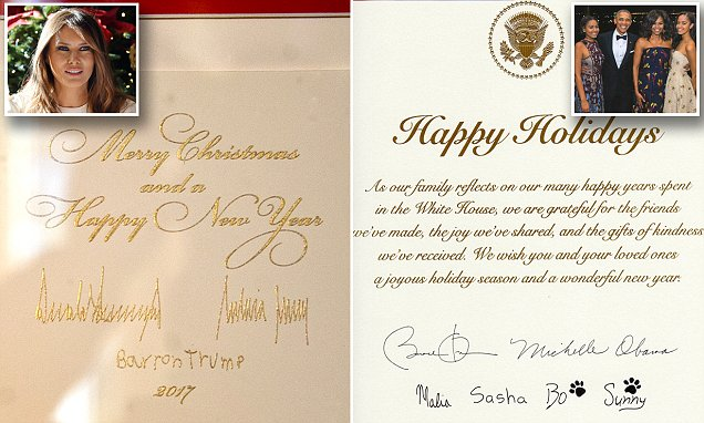 Trump Christmas Card Doesnt Say Happy Holidays Daily
