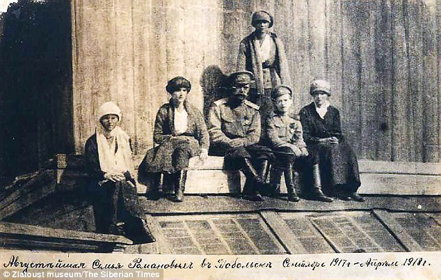 Top Bolshevik Yakov Sverdlov - who specifically ordered the killing of the last tsar - was also Jewish, say supporters of the theory. Pictured:Romanov family in Tobolsk