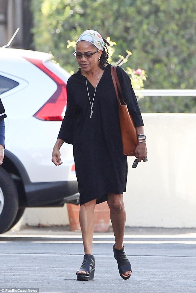 Very happy: Doria Ragland made public what she feels about her daughter's engagement to Prince Harry as she got back to work in Los Angeles