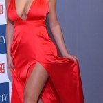 Lady In Red :Demi Rose Puts Her Curves On Display At OK! Magazine Beauty Awards 2017