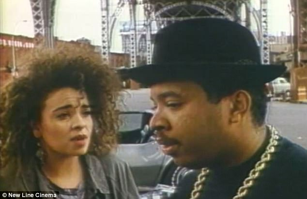 Lummet and Simmons worked together on the 1988 film Tougher Than Leather which was put together to promote Run DMC's latest album at the time. She is seen above with Joseph Simmons, aka Rev Run, Russell's brother who was the star of the group while he was the group's producer
